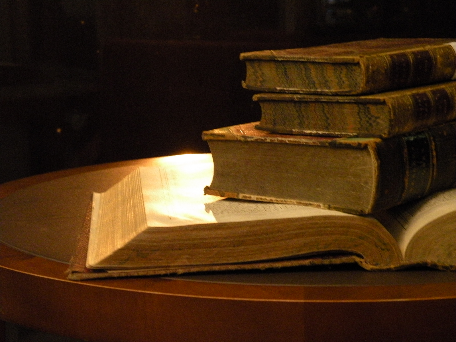Old Books On Table Closeup.JPG